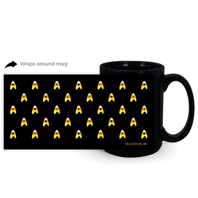 Star Trek: The Original Series Candy Corn Deltas Black Mug