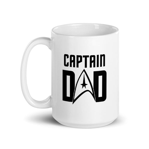 Star Trek: The Original Series Captain Dad White Mug
