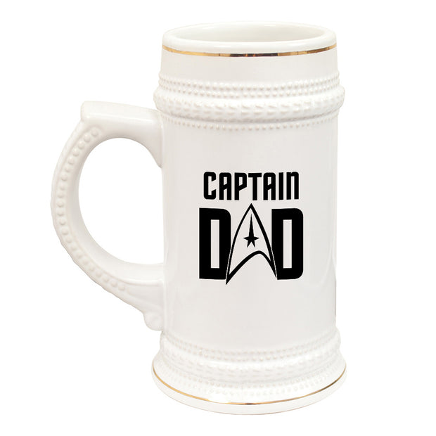 Star Trek: The Original Series Captain Dad 20 oz Ceramic Beer Stein