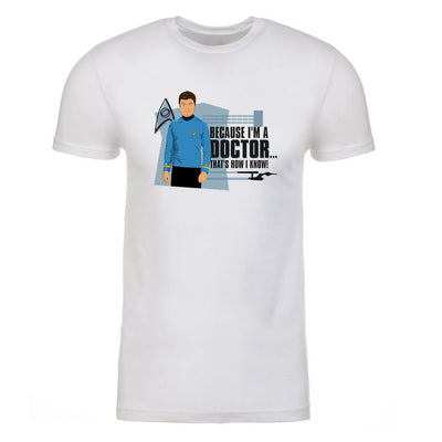 Star Trek: The Original Series Because I'm A Doctor Adult Short Sleeve T-Shirt