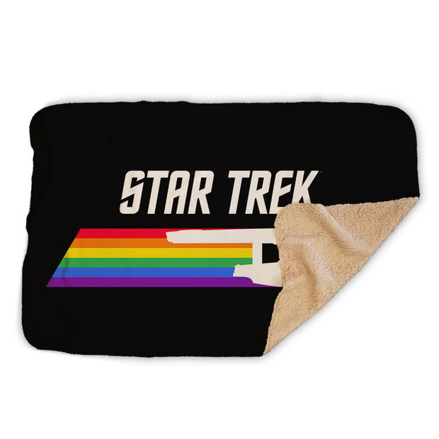 Star Trek: The Original Series Pride Enterprise Sherpa Blanket
