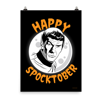Star Trek: The Original Series Happy Spocktober Premium Satin Poster