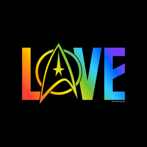 Star Trek: The Original Series Pride Lov Women's Fleece Crop Hooded Sweatshirt