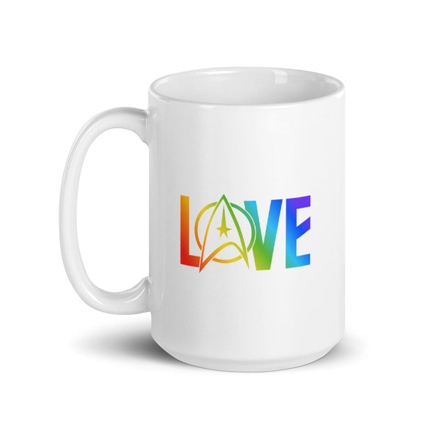 Star Trek: The Original Series Pride Love White Mug
