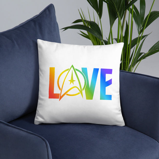 Star Trek: The Original Series Pride Love Throw Pillow