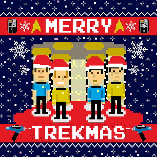 Star Trek: The Original Series Merry Trekmas Sherpa Blanket