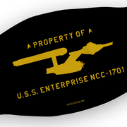Star Trek: The Original Series U.S.S. Enterprise Property of Profile Washable Face Mask