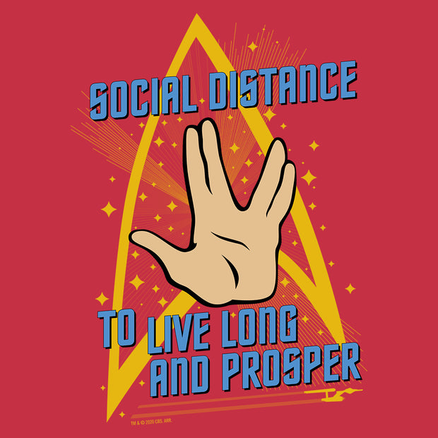 Star Trek: The Original Series Social Distance Women's Tri-Blend Dolman T-Shirt