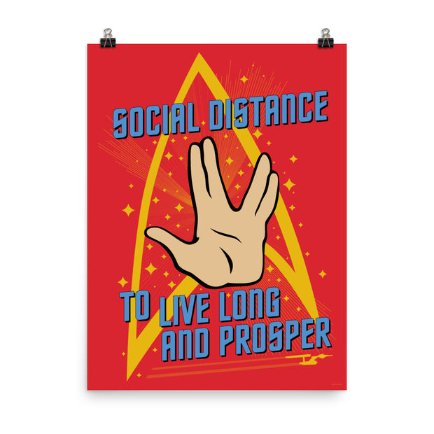 Star Trek: The Original Series Social Distance Premium Satin Poster