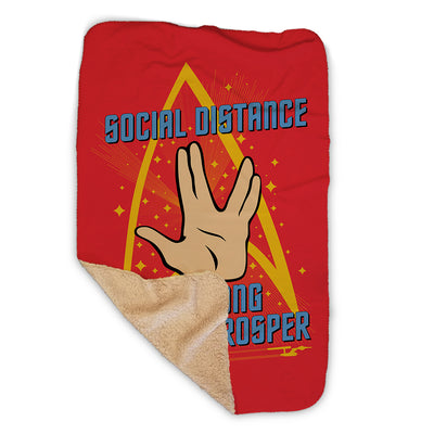 Star Trek: The Original Series Social Distance Sherpa Blanket