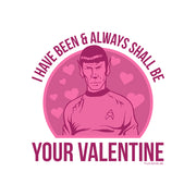 Star Trek: The Original Series Spock Valentine Adult Short Sleeve T-Shirt
