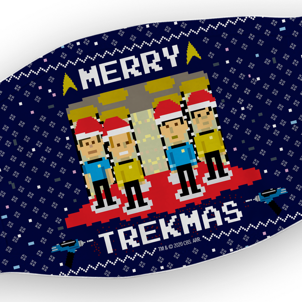 Star Trek: The Original Series Trexels Trekmas Washable Face Mask