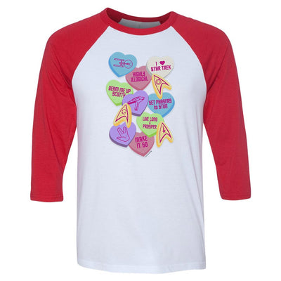 Star Trek: The Original Series Valentine's Day Collage 3/4 Sleeve Baseball T-Shirt