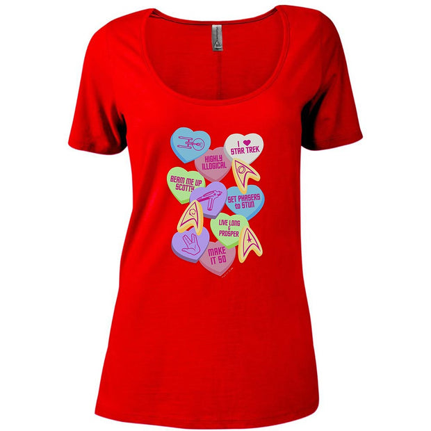 Star Trek: The Original Series Valentine's Day Collage Women's Relaxed Scoop Neck T-Shirt