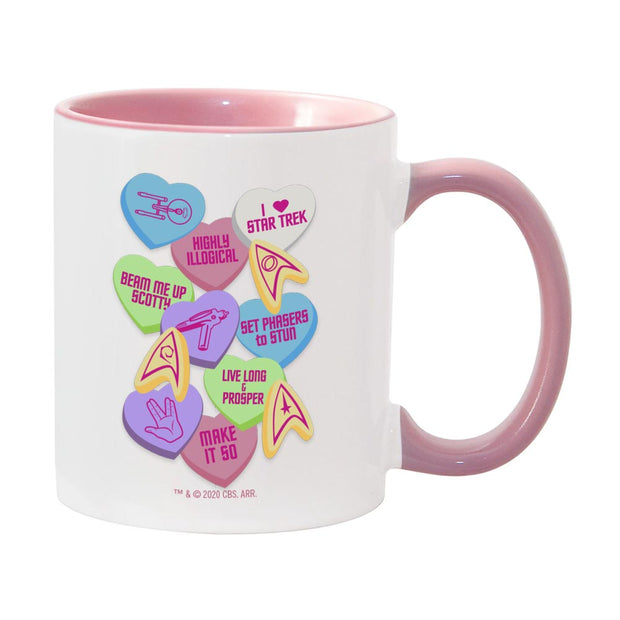 Star Trek: The Original Series Valentine's Day Collage Two-Tone Mug