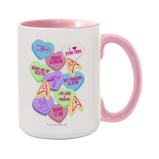 Star Trek Valentine's Day Collage Two-Tone Mug