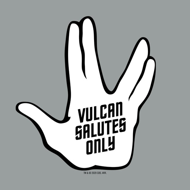 Star Trek Vulcan Salutes Only Women's Tri-Blend Dolman T-Shirt