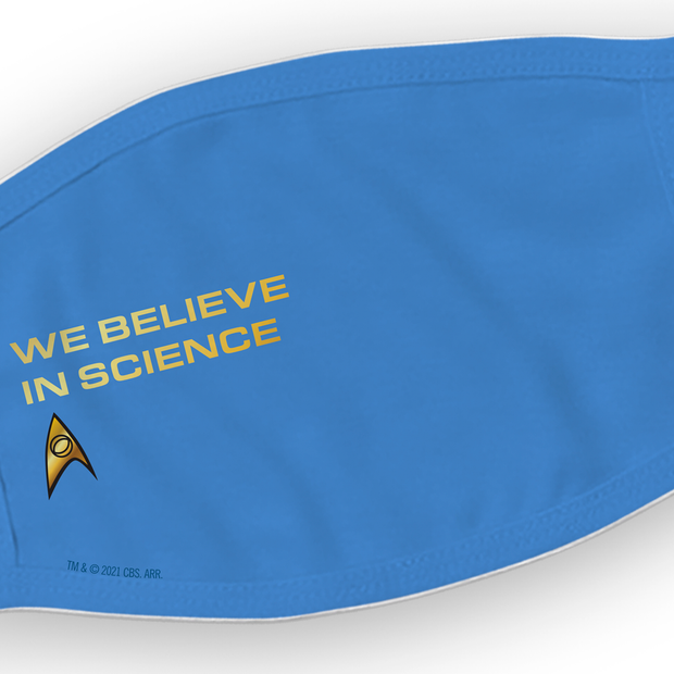 Star Trek: The Original Series We Believe in Science Washable Face Mask