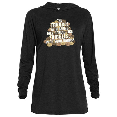 Star Trek: The Original Series Wash Your Hands Tribbles Stack Adult Tri-Blend Raglan Hoodie