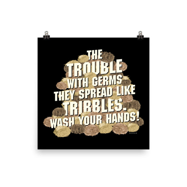 Star Trek: The Original Series Wash Your Hands Tribbles Stack Premium Satin Poster