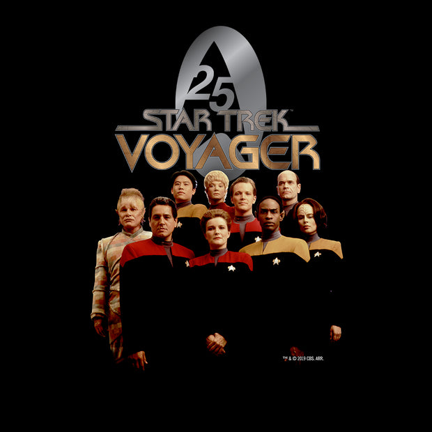 Star Trek: Voyager 25 Gold Crew Adult Short Sleeve T-Shirt