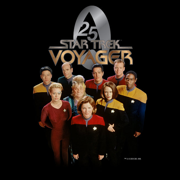 Star Trek: Voyager 25 Gold Crew 2 Adult Short Sleeve T-Shirt