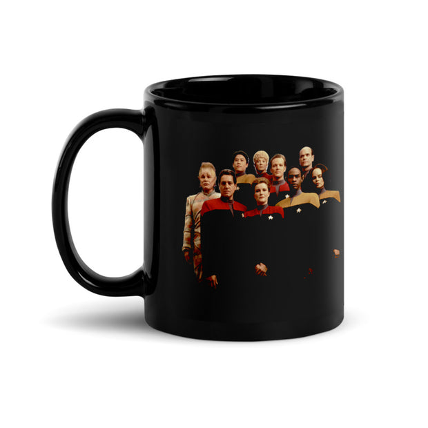 Star Trek: Voyager 25 Gold Crew Double Sided Black Mug