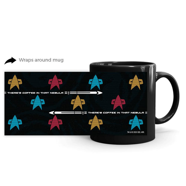 Star Trek: Voyager Coffee in that Nebula Badge Black Mug