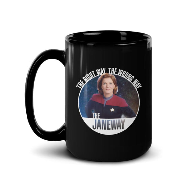 Star Trek: Voyager The Janeways Black Mug
