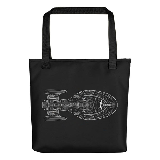 Star Trek: Voyager 25 Schematic Tote Bag
