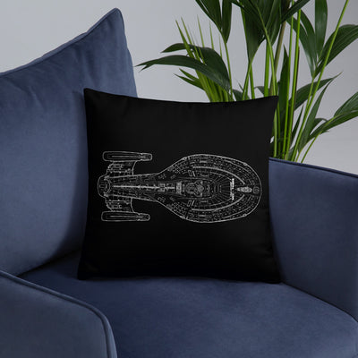 "Star Trek: Voyager 25 Schematic Pillow 16"" x 16"""