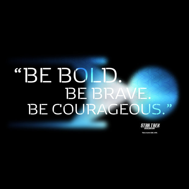 Star Trek: Discovery Be Bold. Be Brave. Be Courageous. Adult Short Sleeve T-Shirt