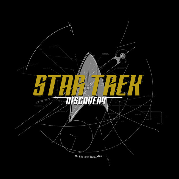 Star Trek: Discovery Logo Sketch Adult Short Sleeve T-Shirt