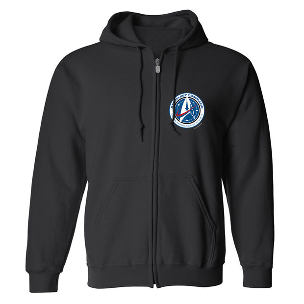 Star Trek: Discovery Starfleet Command Fleece Zip-Up Hooded Sweatshirt