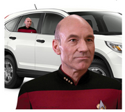 Star Trek: The Next Generation Picard Passenger Series Window Decal