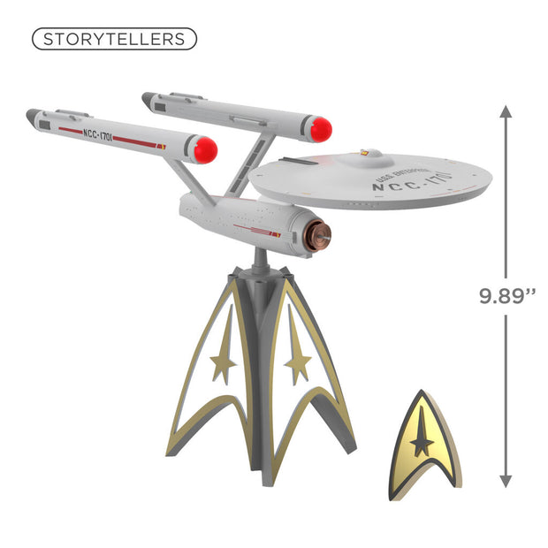 U.S.S. Enterprise Tree Topper STAR TREK Mirror, Mirror Collection Storyteller Tree Topper