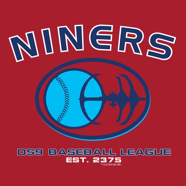 Star Trek: Deep Space Nine Niners Baseball Fleece Hooded Sweatshirt
