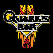 Star Trek: Deep Space Nine Quark's Bar Vintage Logo Black Adult Short Sleeve T-Shirt