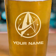 Star Trek: Discovery Starfleet Command Personalized Pint Glass