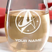Star Trek: Discovery Starfleet Command Personalized Stemless Wine Glass