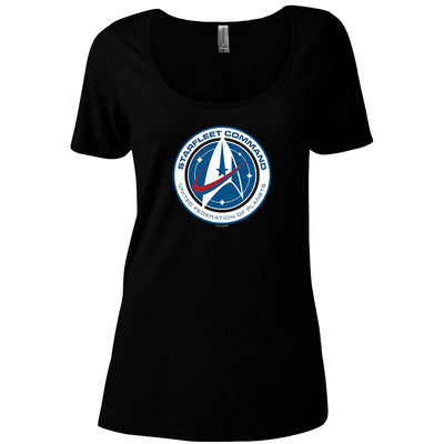 Star Trek: Discovery Starfleet Command Women's Relaxed Scoop Neck T-Shirt