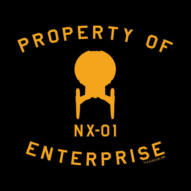 Star Trek: Enterprise Property of Enterprise Adult Short Sleeve T-Shirt
