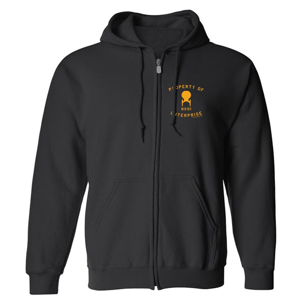 Star Trek: Enterprise Property of Enterprise Fleece Zip-Up Hooded Sweatshirt