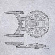 Star Trek: Enterprise NX-01 Schematic Adult Short Sleeve T-Shirt