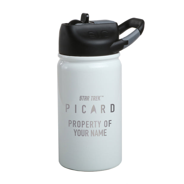 Star Trek: Picard Property Of Personalized Laser Engraved Short SIC Water Bottle