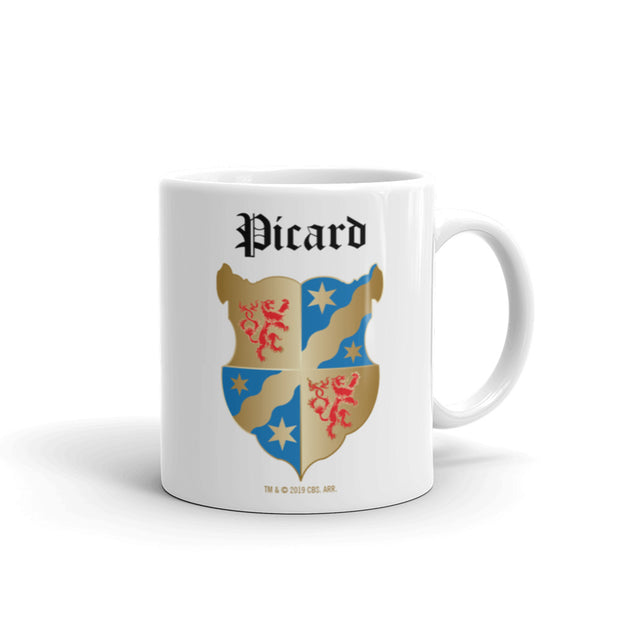 Star Trek: Picard Coat of Arms 11 oz White Mug