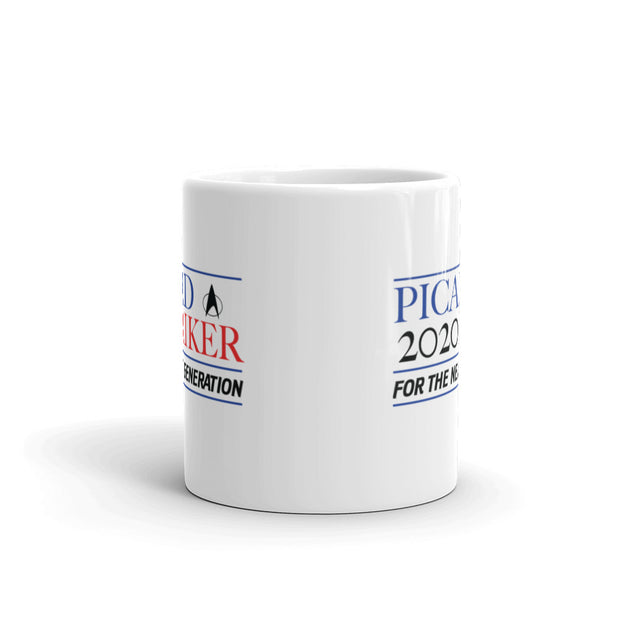 Star Trek: The Next Generation Picard Riker 2020 White Mug