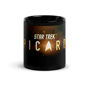 Star Trek: Picard Gold Burst Logo Black Mug