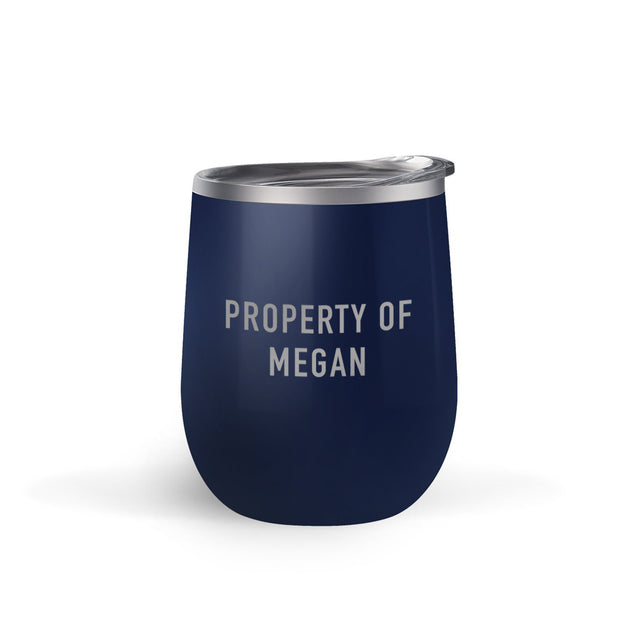 Star Trek: Picard Property of Personalized Double Sided 12 oz Stainless Steel Wine Tumbler