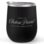 Star Trek: Picard Chateau Picard Logo 12 oz Stainless Steel Wine Tumbler with Straw